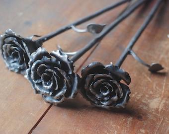 Everlasting Rose, Hand Forged Steel Rose