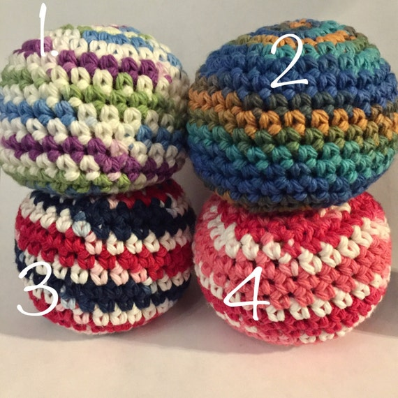 Crochet Beach Bag Pattern : Hacky sack crochet bean bag hacky sack bean bag toy crochet