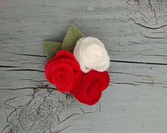 Felt Roses Brooch / Roses Pin/ Felt Accessories/ Handmade