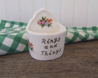 Rings and Things, Vintage Ring Holder, White Ring Holder