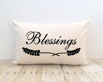Blessings Pillow Cover, Home Sweet Home, New Home, House Warming, Faith, Inspiration