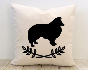Pet Silhouette Pillow Cover, Dog Pillow Cover, Cat Pillow Cover, Personalized, Custom
