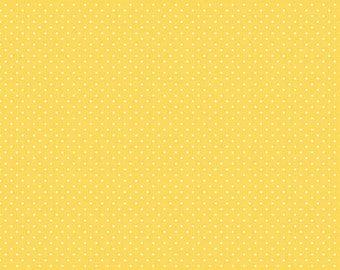 1 Yard- Yellow Swiss Dot by Riley Blake Designs- 670-50