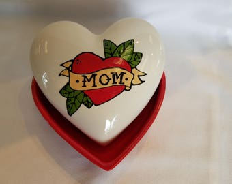 Mom Heart Trinket Box