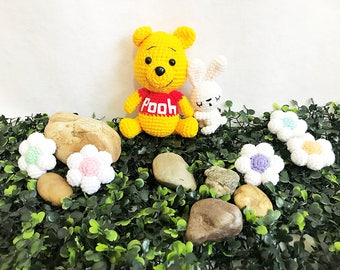 Crochet Winnie the pooh  Amigurumi, nursery decor, Pooh amigurumi, Crochet Pooh, Handmade crochet doll decor, gift, toys
