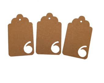 Number Six Gift Tags
