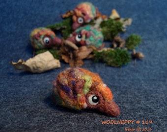 Woolneppy baby - autumn woolneppy # 119. OOAK wool figurine. decorative soft sculpture