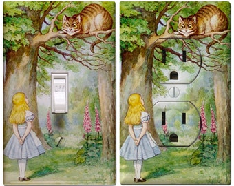 Alice and Cheshire Cat  Light Switch Cover