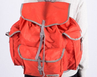 Vintage backpack - Olympia backpack - red - large backpack - vintage bags - synthetic - casual - practical - hipster - 70 s backpack