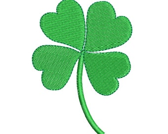 Four Leaf Clover Embroidery Design, St Patrick's Day, Instant Download, 4 Leaf Clover Machine Embroidery Design no: SA532-4
