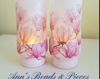 Decoupage Glass Candle holders