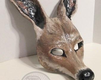 Kangaroo costume mask,  Australian, masquerade mask, animal totem, costume mask, made to order, custom made, Aussie, Kangaroo mask