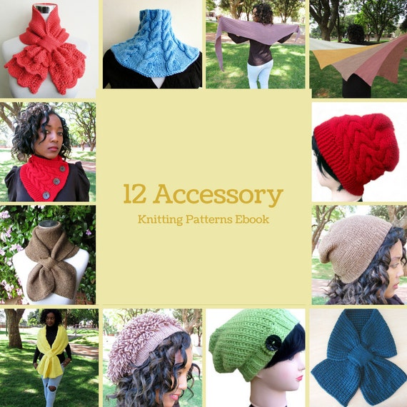 12 Accessory Knitting Patterns Ebook Scarves Shawls and