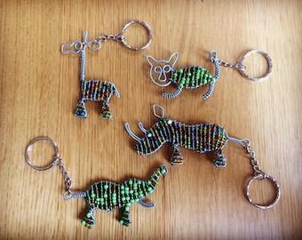 Beadwork keychains - animal beadwork key ring
