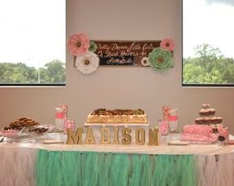 7 piece Custom Paper Backdrop, Rhinestones, Wedding, Bridal Shower, Backdrop, Wall Decor, Nursery, Photo Booth, Sweetheart Table, Cake Table