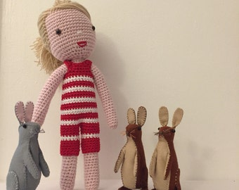 Crocheted - Handmade - Cotton Doll