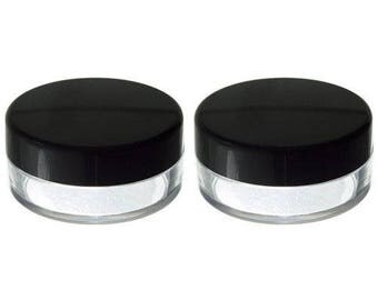 Clear Empty Refillable Powder Sifter Cosmetic Makeup Jar - 20 ml (2 pack) ***FREE SHIPPING***