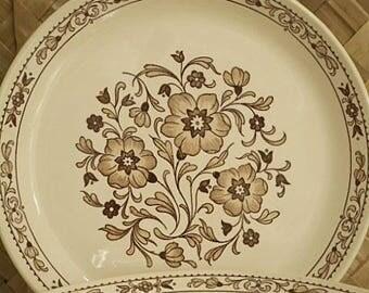 "Retro Johnson of Australia  ""LACE"" Pattern -  Set of Six Dinner Plates"