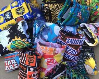 Limited Qty SALE!!! Assorted Padded Pipe Pouches Drawstring Bags
