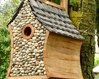 Pebble Bird House/Box for Garden wild birds