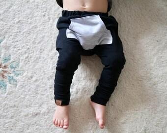 Harem pants -Black with pocket - Harem kids pants - children harem - baby harem - sarouel