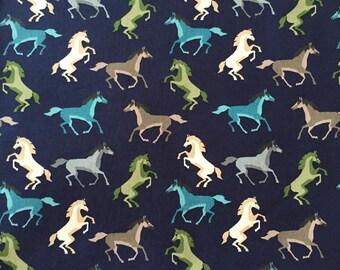 HORSE FABRIC Fabric By The Yard, Animal Fabric, western fabric, Pony Fabric, Grey Fabric, 100% Cotton by yard, fat quarter, half yard, yard