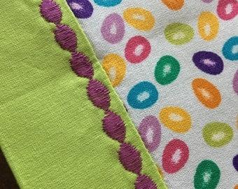 Jelly Bean Easter Table Runner - Purple Detail - *reversible!*