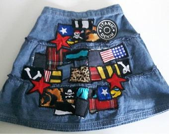 Titanic Denim Girls Denim Skirt