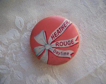 Vintage Heather Rouge Tin 1950's Cosmetics