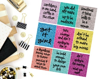 GirlBoss Quote Stickers! Perfect for your Erin Condren Life Planner, calendar, Paper Plum, Filofax!