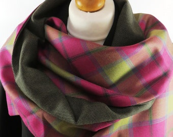"Connaught clan pure wool tartan wrap. 11""/27cms X 57""/142cms. A limited edition accessory hand made with care in the UK"