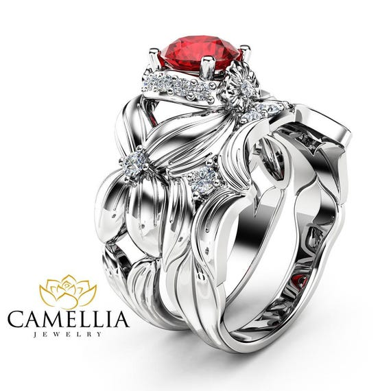 like this item - Ruby Wedding Ring Sets