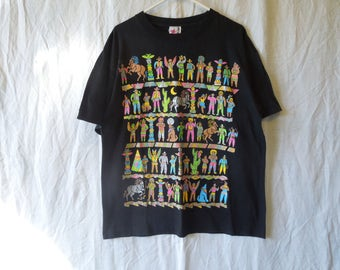 90s Sparkly Cowboys and Indians South Western T-Shirt