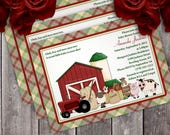 Down on the Farm Baby Shower Invitation