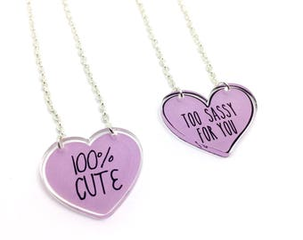 Sassy necklace - 100% cute necklace