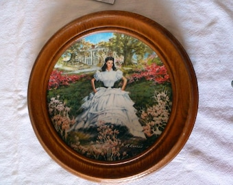 "VINTAGE - ""Scarlett"" -First Issue of GWTW-Scarlett 1978 Collector Plate - Bradford  Exchange"