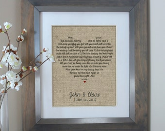 Wedding Gift Song Lyric Art Wedding Song Lyrics Personalized Wedding Gift First Dance Lyric Song Lyric Art Wedding Anniversary Gifts for Men