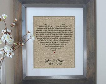 Unique Wedding Gifts Husband : Lyrics Art, Wedding Gift, Wedding Anniversary Gifts, Unique Wedding ...