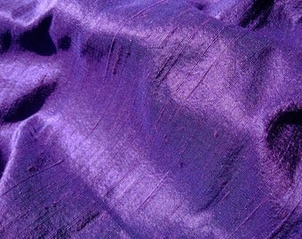 ROYAL PURPLE SILK fabric, by the yard, dupioni silk, upholstery, fashion, interior decor, upholstery, eggplant, grape, purple, violet