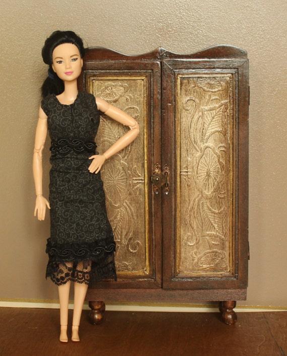 items similar to dollhouse barbie 1 6 scale wardrobe