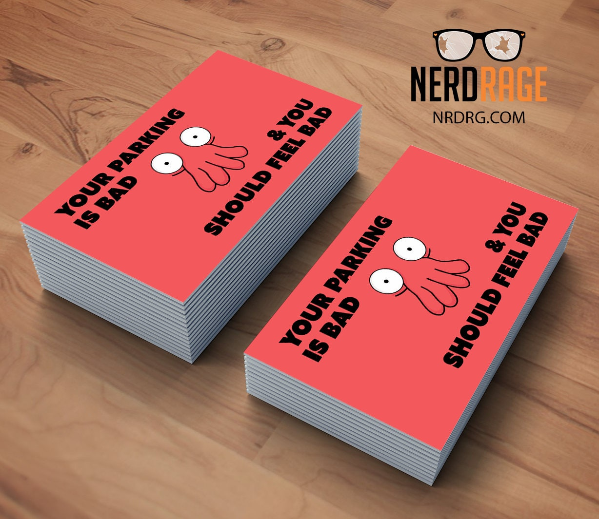Zoidberg bad parking cards stack of 50 funny parking card zoidberg bad parking cards stack of 50 funny parking card novelty business card colourmoves