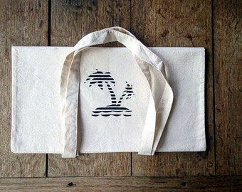 Tote bag in cotton Palm