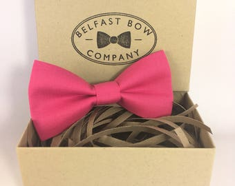 Handmade Bow Tie in Pink - Adult & Junior sizes available