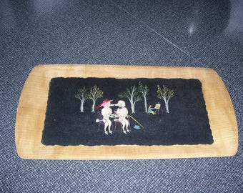 Poodle Tray Fifi and Pepe Tray Kentley 50s Vintage