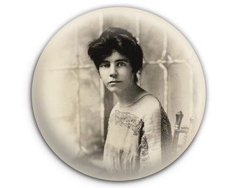 Alice Paul Feminist Suffrage Vote Women Pinback Button // Pin // Badge