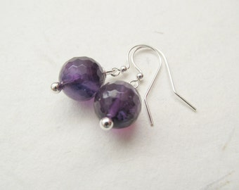 Amethyst earrings, gemstone earrings, amethyst jewelry