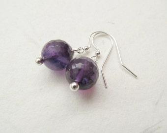 Amethyst earrings, gemstone earrings, amethyst jewelry