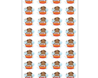 40% OFF SALE Dog Bath Planner Stickers – Planner Stickers- Will Fit Any Planner – 0158