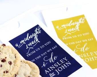 Favor Bag, Midnight Snack, Cookie Bag, Wedding Favors, Wedding Welcome Bag, Candy Buffet, Popcorn Buffet, Love is Sweet, Candy Bar Favor,