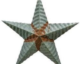"""12"""" Corrugated Tin Barn Star-Americana Barn Star-Rustic Tin Barn Star -Primitive Barn Star-Americana Decor-Primitive Decor-Free Shipping"""